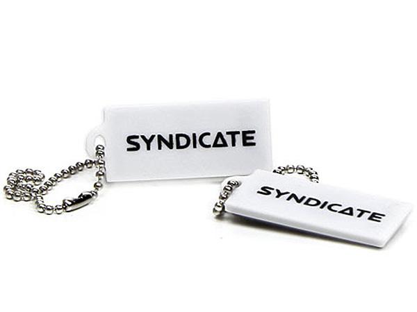 Mini USB-Stick in weiß mit Logo bedrucken