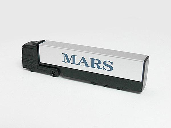 LKW USB-Stick in schwarz mit Logo