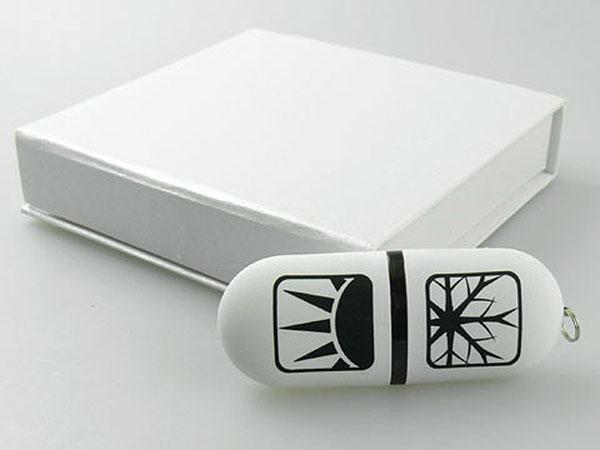 USB-Stick in Geschenkbox mit Logoprint
