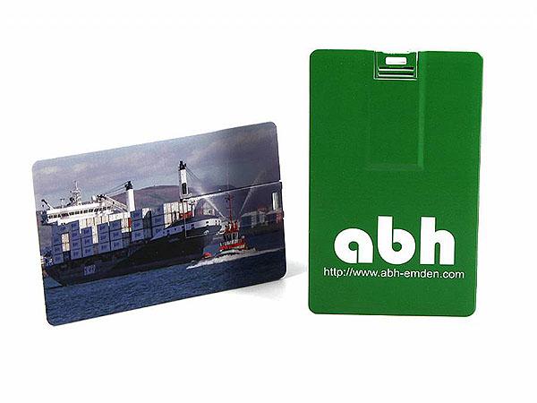 abh emden Logo bedruckt auf USB-Stick Visitenkarte
