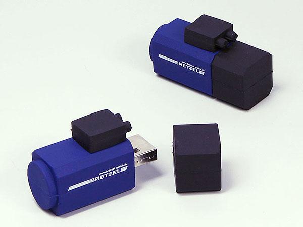 Aggregat Maschine mit Motor als USB-Stick mit Logo in individueller Form