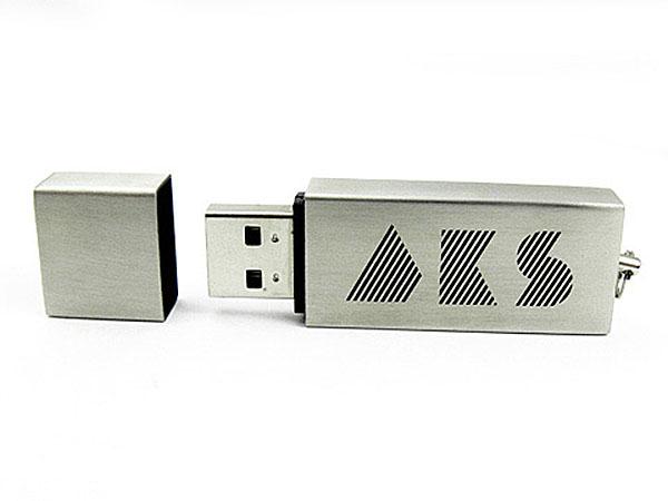 Metall USB-Stick mit Lasergravur gebürstetes Aluminium