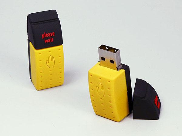 Ampel Ampeldrücker Taster mit Logo als USB-Stick in Sonderform