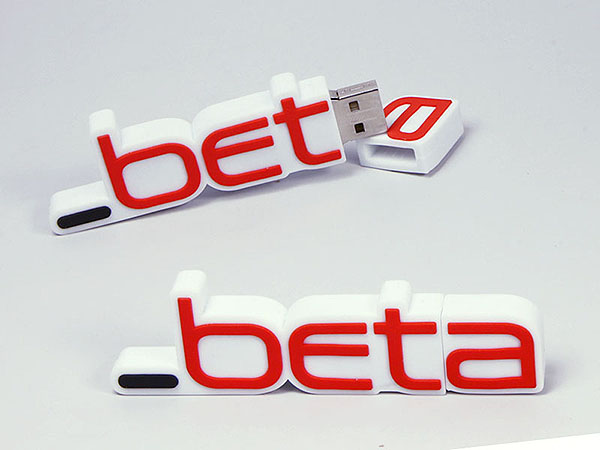 beta Logo USB-Stick in Wunschform des Logos