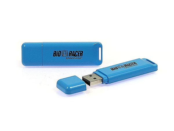 Bio Racer USB-Stick mit einfarbigen Logodruck