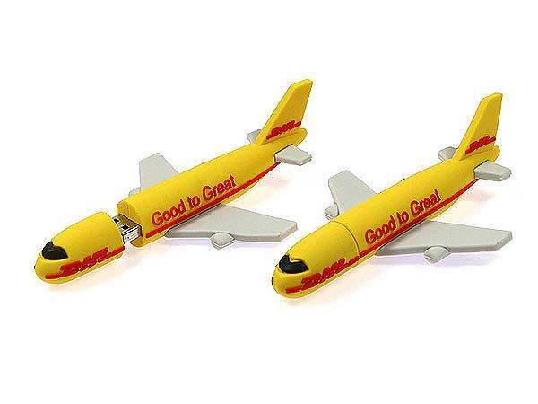 DHL Flugzeug USB-Stick in individueller Form