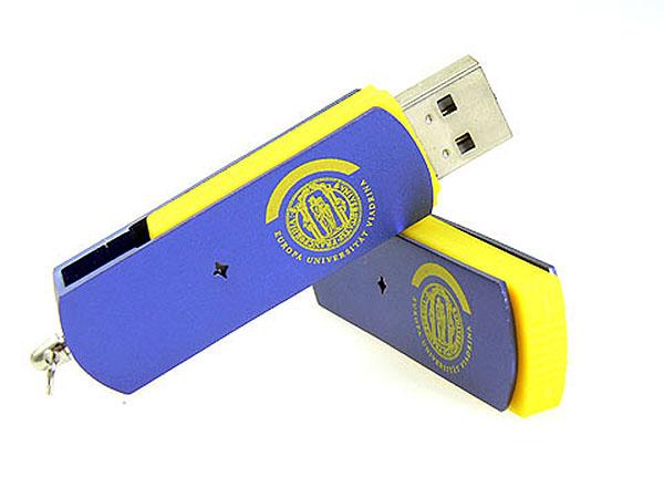 Individuell Produzierter USB-Stick mit Drehgelenk und Logodruck