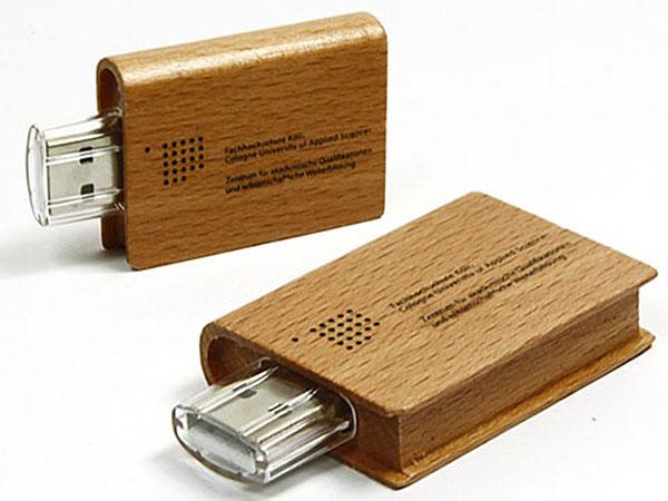 Fachhochschule Köln cologne Holz buch USB-Stick