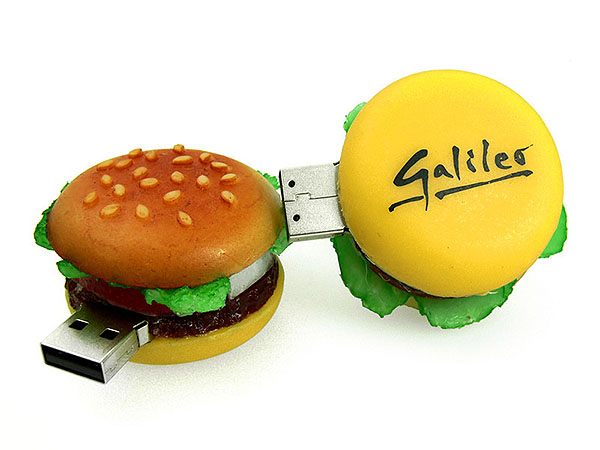 Galileo Burger USB-Stick mit Logo bedruckt Hamburger