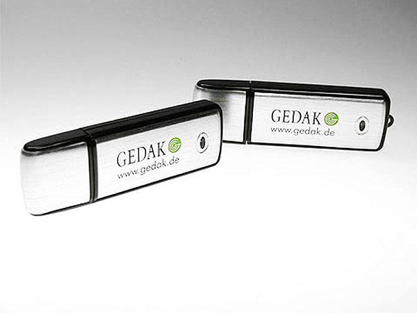 GEDAK Aluminium Werbeartikel USB-Stick