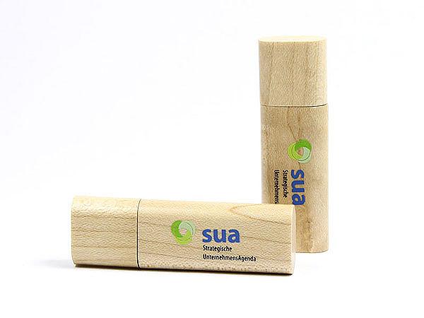 Holz USB-Stick mit Logo Druck