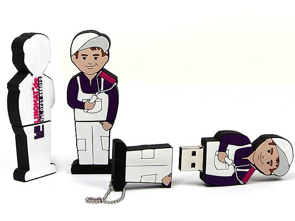 Individueller Maler USB-Stick Figur mit Logo