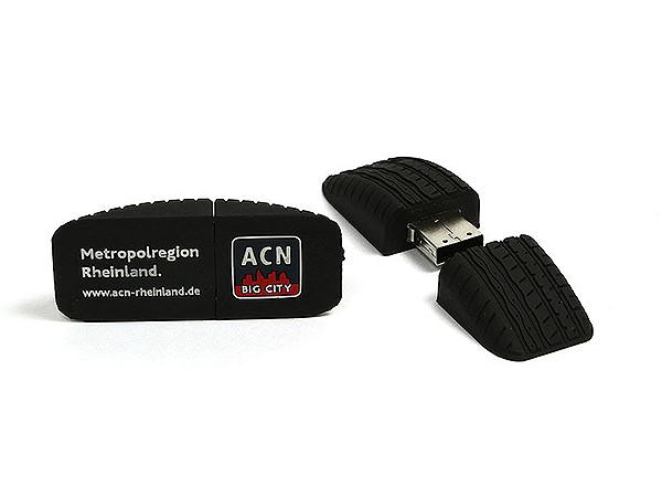 Individueller Rheinland Reifen USB-Stick mit Reifenprofil
