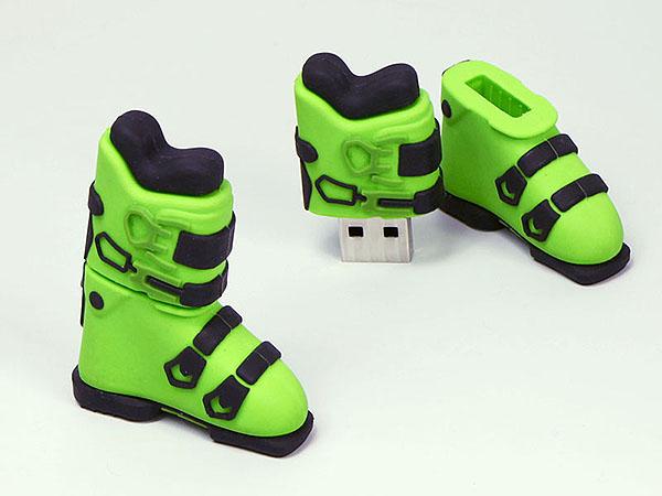 K2 Skischu Schuhe zum Ski fahren als USB-Stick in Wunschform