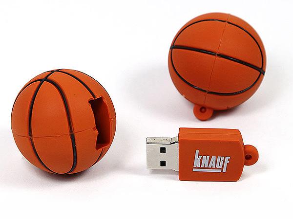 Knauf Basketball USB-Stick mit Logo bedruckt