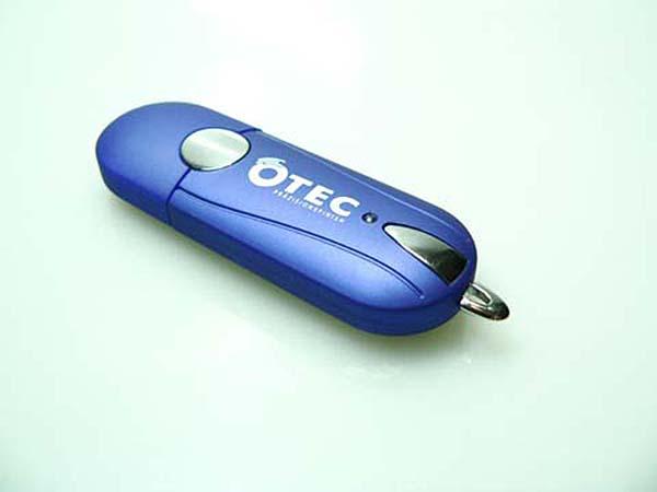 Kunststoff und Chrom USB-Stick mit Logodruck