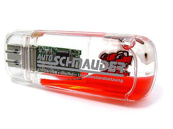 Liquid USB-Stick bedruckt und mit Figur