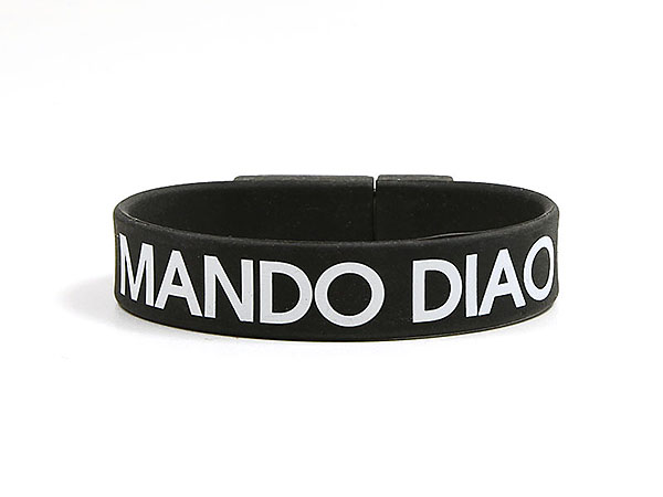 Mando Diao Armband mit USB-Stick bedruckt