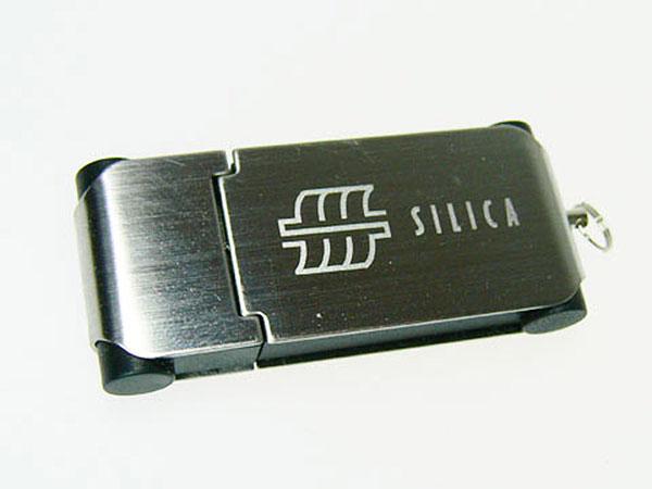 Metall USB-Stick mit Öse als Schlüsselanhänger als Werbegeschenk