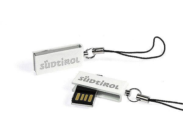Mini USB-Stick aus Metall lackiert mit Südtirol Gravur