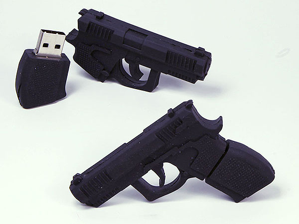 Pistole Waffe Gewehr USB-Stick mit Logo in Wunschform