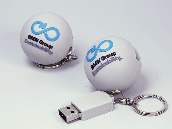 Runde Kugel USB-Stick mit BMW Logo als individueller USB-Stick