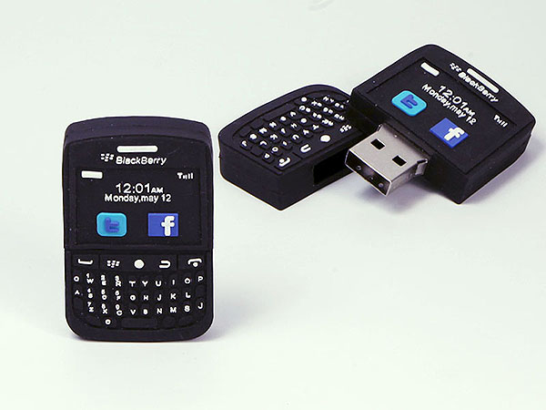 smartphone Blackberry Handy USB-Stick mit Tasten udn Display in Wunschform