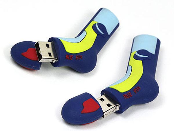 Falke Socke als USB-Stick mit Logo