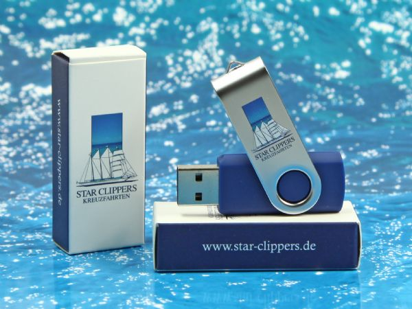 usb stick buegel metall logo druck