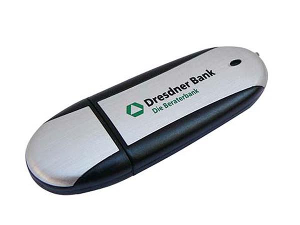 USB-Stick der Dresdner Bank mit Logo Druck