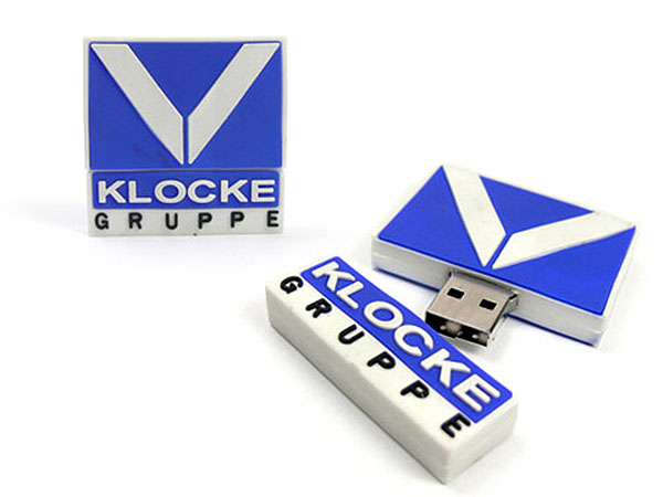 USB-Stick in der Form eines Kundenlogos