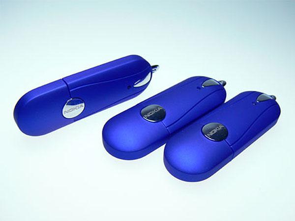 USB-Stick Kunstoff und Chromelementen mit Branding Druck  Gravur