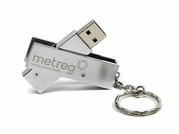 Metall USB-Stick drehbar mit Logogravur