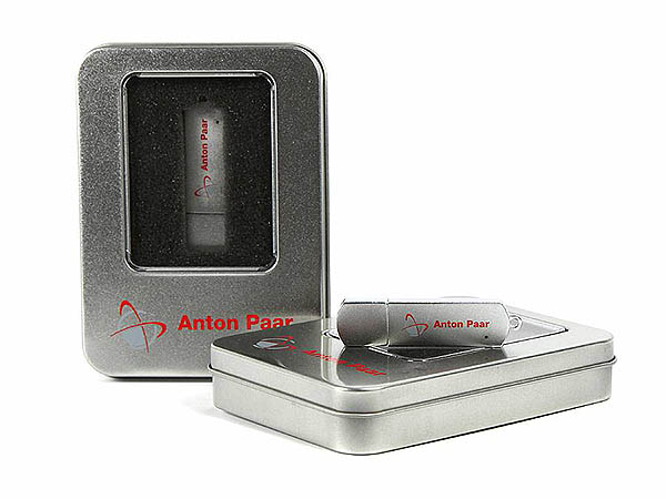 Matt schlichter Metall USB-Stick in Geschenkdose