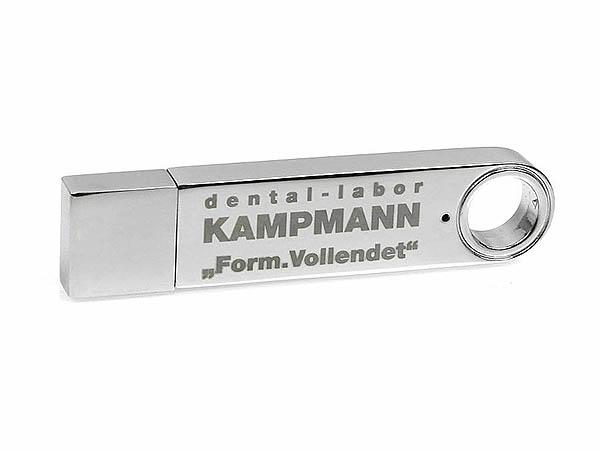Desing USB-Stick aus Vollmetall mit Gravur Werbeartikel