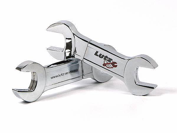 Lutz Schraubenschlüssel USB-Stick mit Logo bedruckt