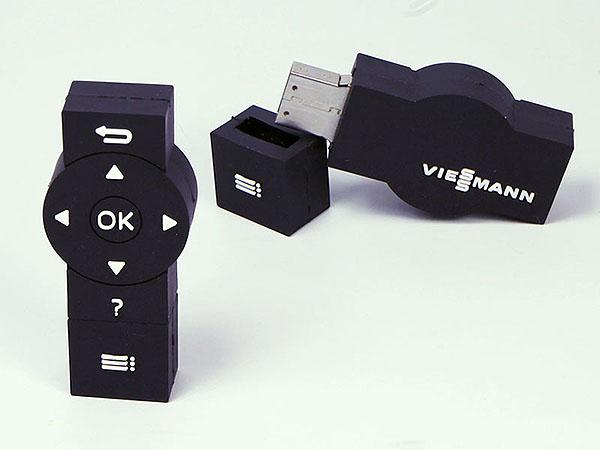 Viessmann Fernbedingung mit Tasten als USB-Stick mit Logo