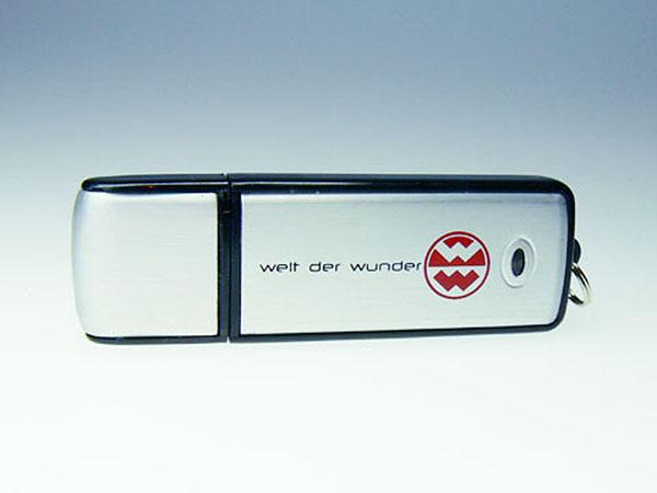 Welt der Wunder Werbegeschenk USB-Stick gedrucktem Logo auf der Vorderseite