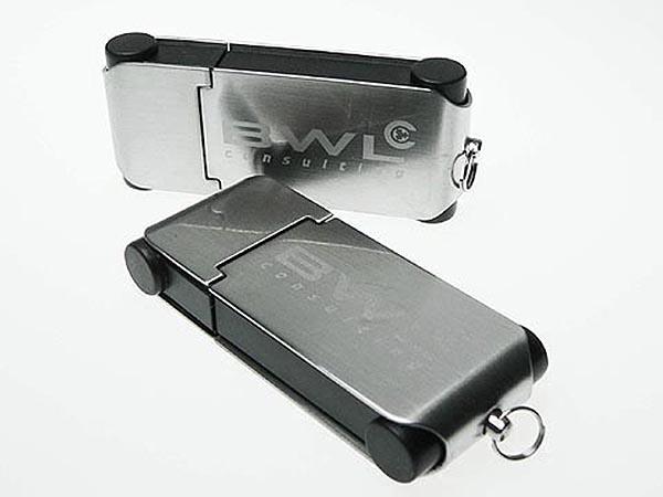 Werbemittel Metall USB-Stick mit graiertem BWL Logo
