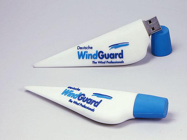 Windrad windräder Flügel mit Logo als USB-Stick in 3D Wunschform