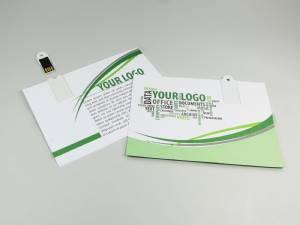 Paper USB Postkarte