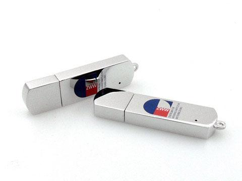 Vollmetall USB-Stick mit mehrfarbigem Logodruck