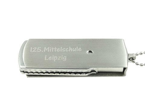 Hochwertiger MEtall USB-Stick mit Gravur, geschwärzt