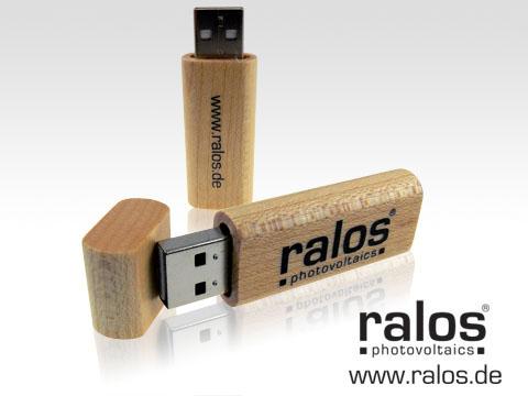 Holz-USB-Stick edel schlicht Werbegeschenk