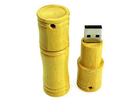 Bambus USB Stick aus Holz mit Logo als Werbegeschenk