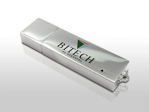 Massiver Metall USB-Stick mit Geschenkbox mit Gravur