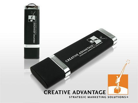Klassischer Kunststoff USB Stick weiss bedruckt
