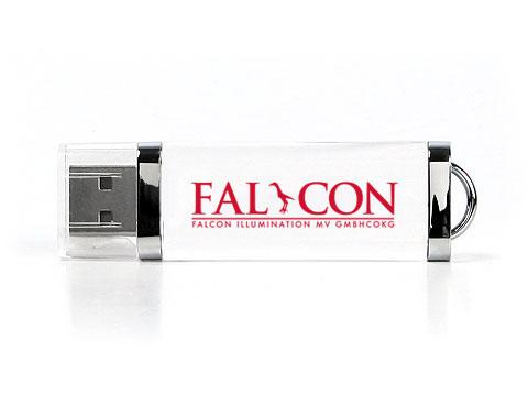 Falcon durchsichtiger Crystal USB-Stick