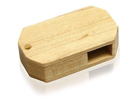 Drehbarer Holz USB-Stick in vielen Farben zum bedrucken und gravieren