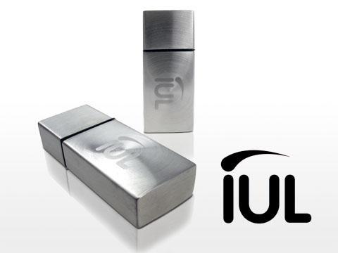 Metall USB Stick mit Logodruck gravierbar Gravur des Logos